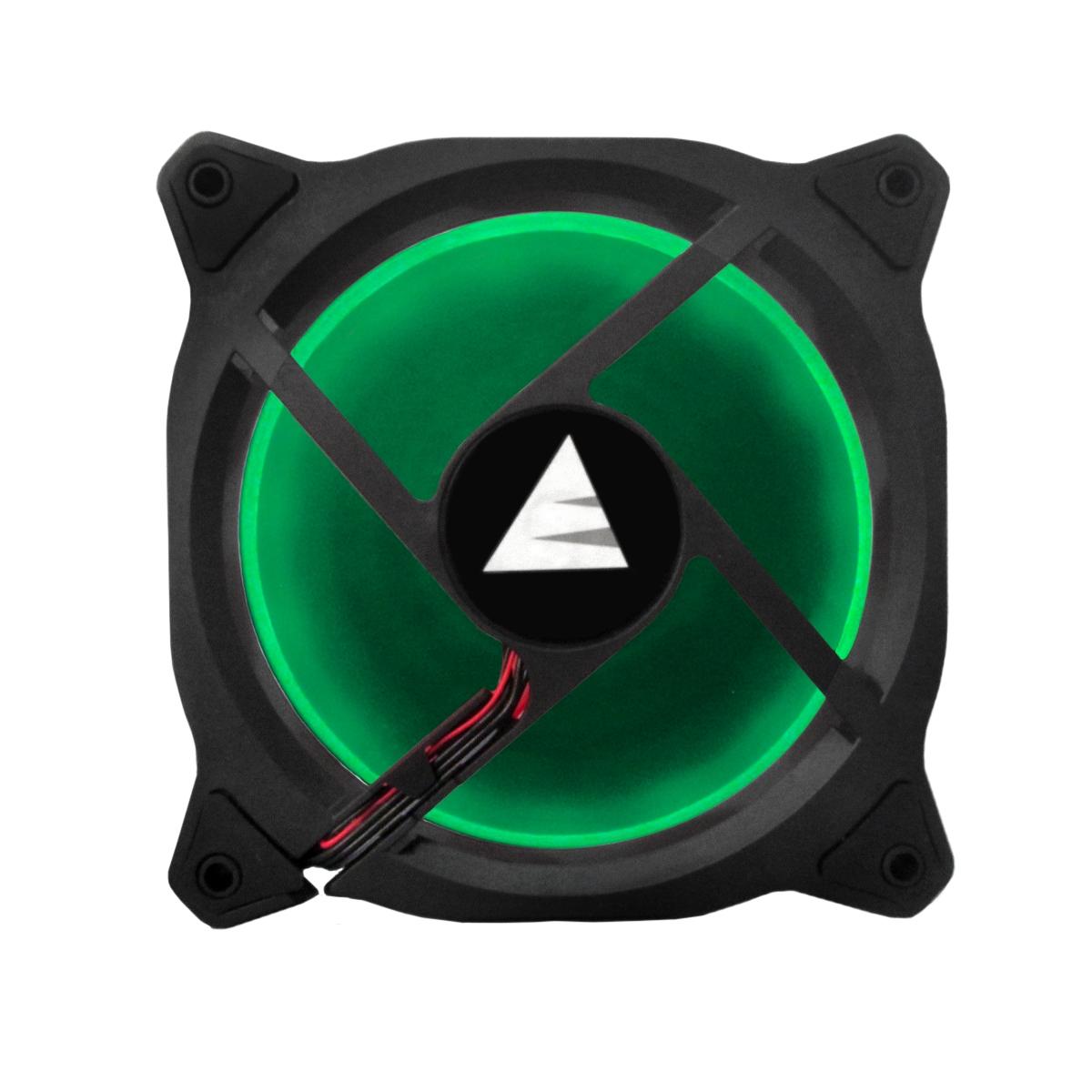 Cooler para Gabinete Bluecase Gamer Ring BF-05G LED Verde 120mm