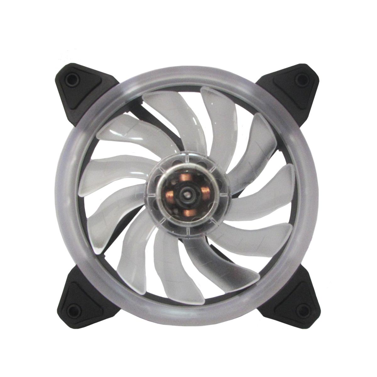 Cooler para Gabinete Bluecase Gamer Ring BFR-05W LED Branco 120mm