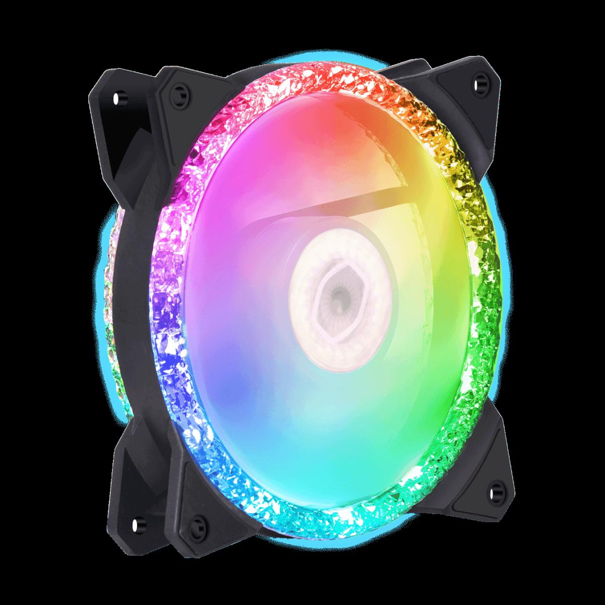 Cooler para Gabinete Cooler Master Master, Master Fan MF120 Prismatic ARGB, 120mm, MFY-B2DN-20NPA-R1