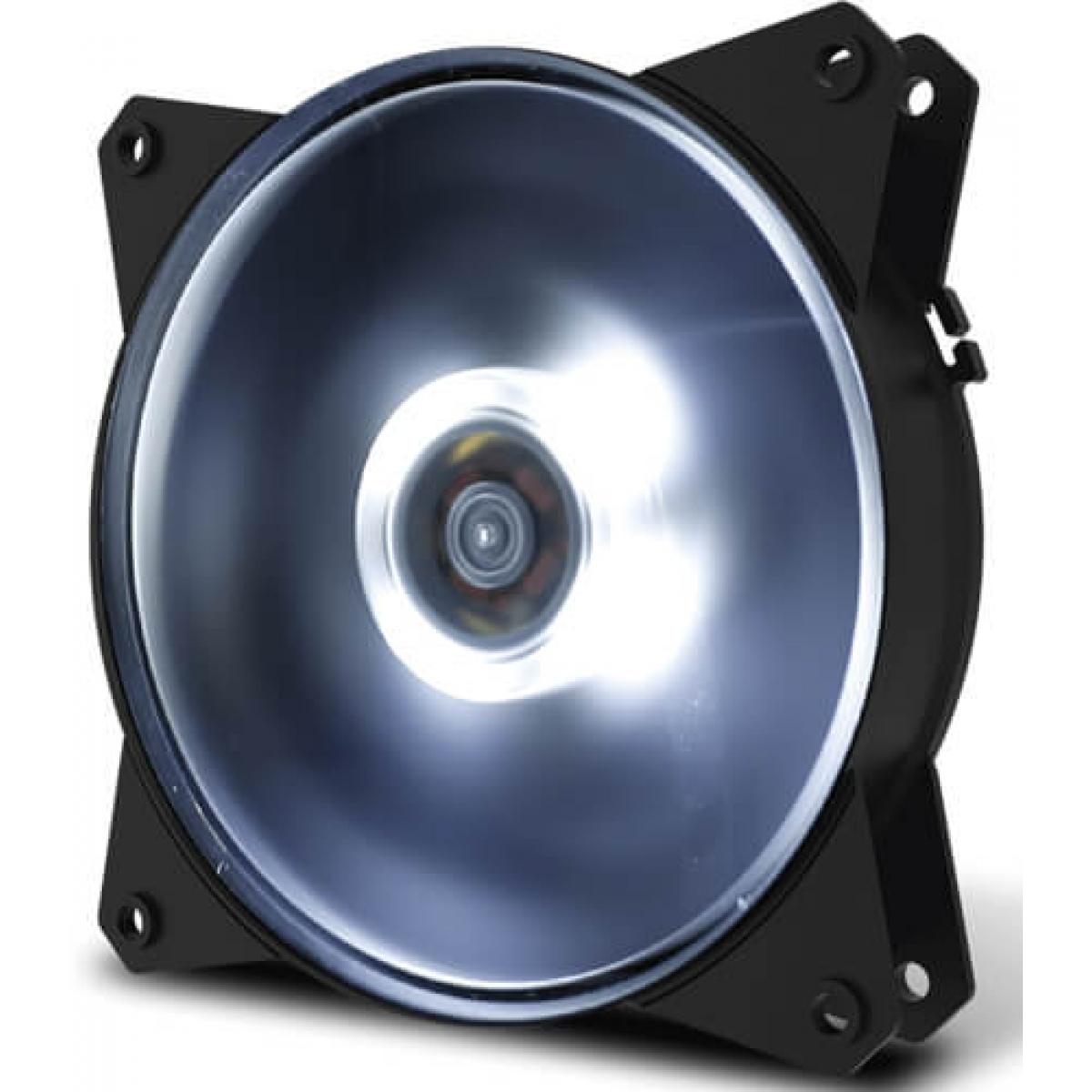 Cooler Para Gabinete Cooler Master MasterFan MF120L, LED White 120mm, R4-C1DS-12FW-R1