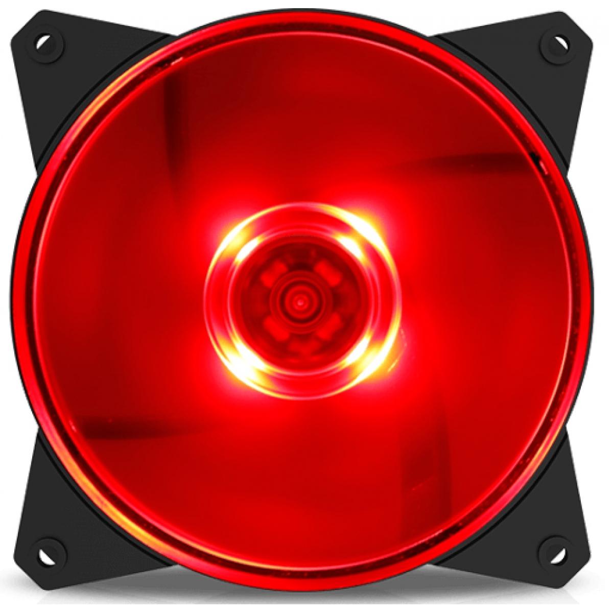 Cooler Para Gabinete Cooler Master Masterfan MF120L, LED Red 120mm, R4-C1DS-12FR-R1