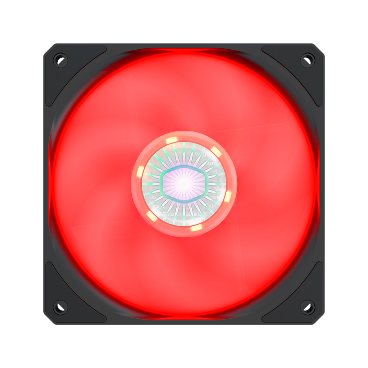 Cooler para Gabinete, Cooler Master, SickleFlow MasterFan MF120 Halo, Red, 120mm, 1800RPM, MFX-B2DN-18NPR-R1