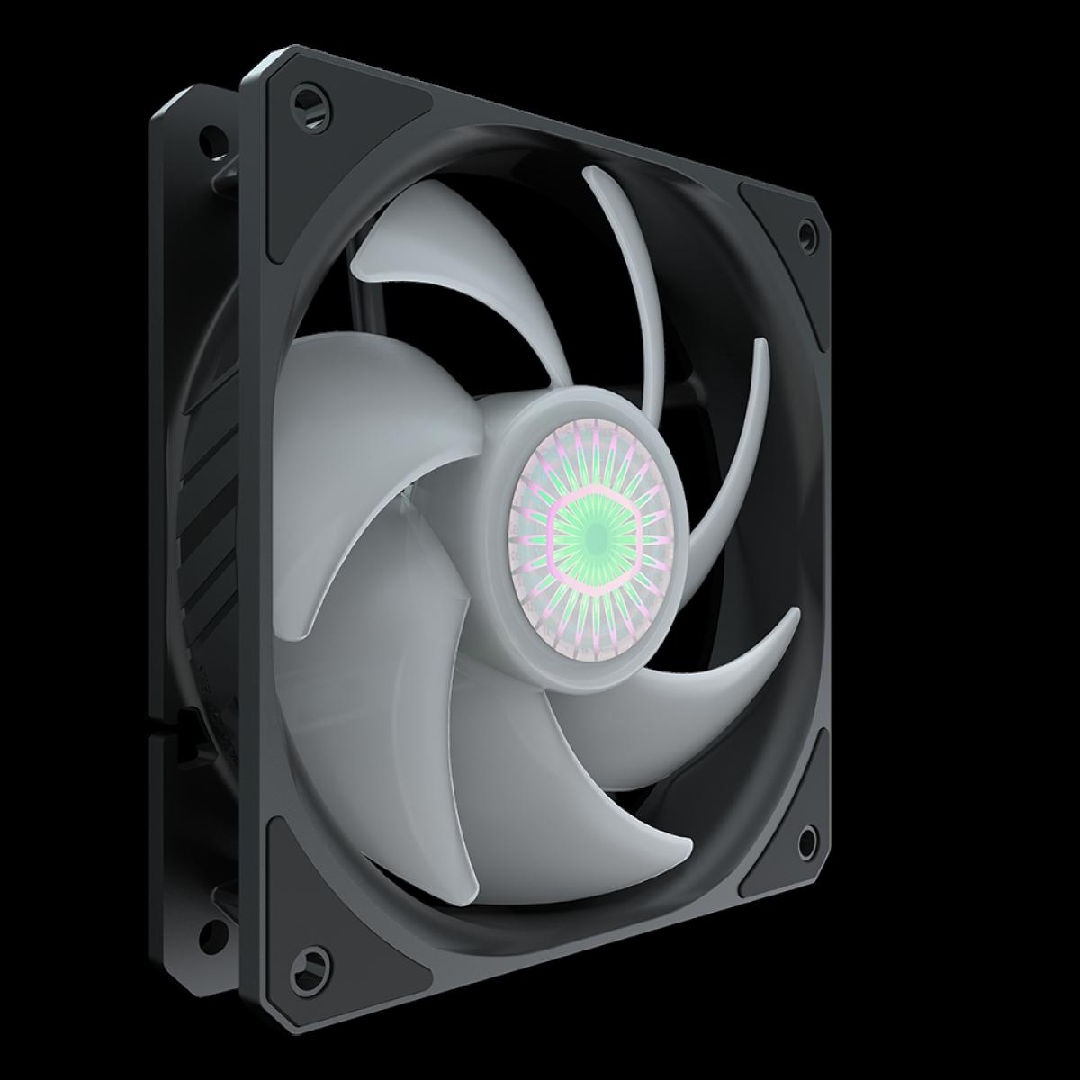 Cooler para Gabinete, Cooler Master, SickleFlow MasterFan MF120 Halo, ARGB, 120mm, 1800RPM, MFX-B2DN-18NPA-R1