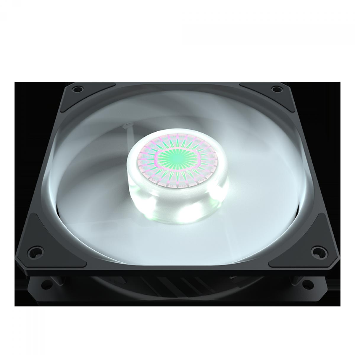 Cooler para Gabinete, Cooler Master, SickleFlow MasterFan MF120 Halo, White, 120mm, 1800RPM, MFX-B2DN-18NPW-R1