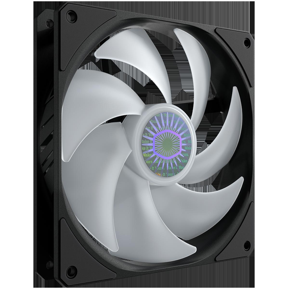 Cooler para Gabinete, Cooler Master, SickleFlow MF140, ARGB, 140mm, 1800RPM,  MFX-B4DN-14NPA-R1