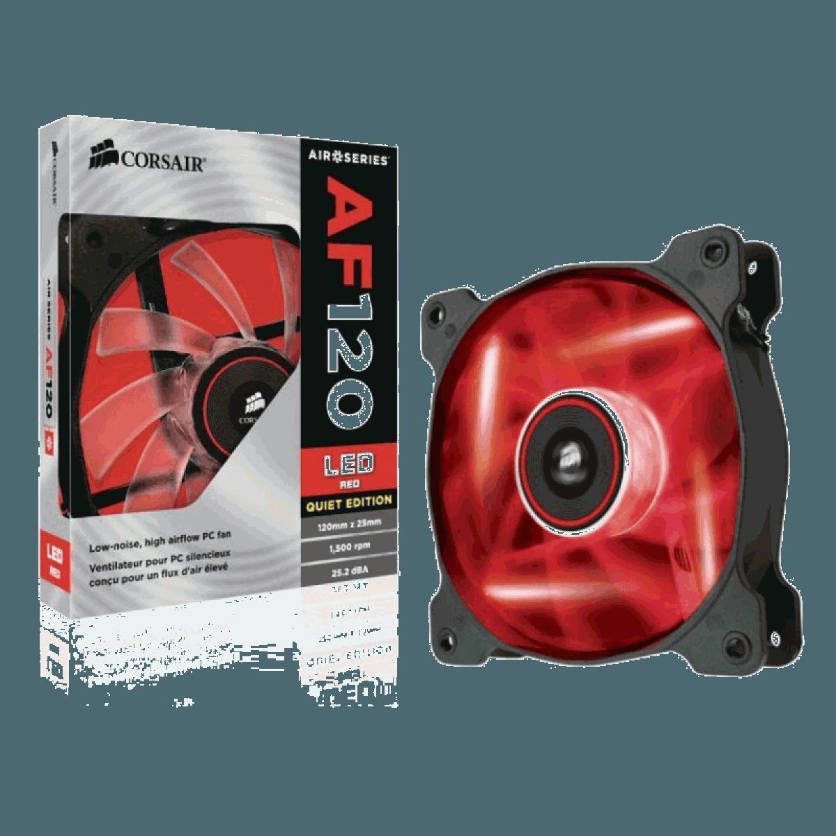 Cooler para Gabinete Corsair AF120, LED Red 120mm, CO-9050015-RLED