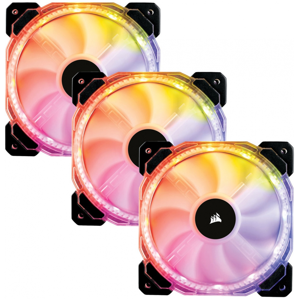Kit Fan com 3 Unidades Corsair HD120 RGB, 120mm, com Controlador, CO-9050067-WW