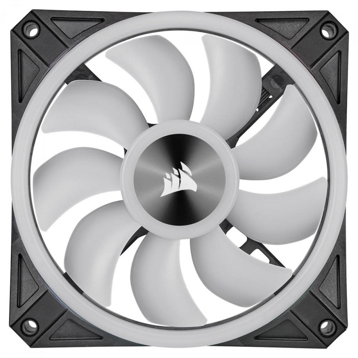 Cooler Para Gabinete Corsair RGB, 120mm RGB LED Fan, Single Pack CO-9050097-WW