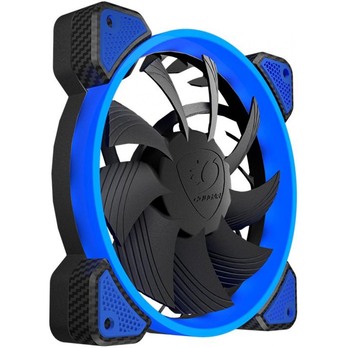 Cooler para Gabinete Cougar Vortex FB, 120mm, Azul, 3MFB120X-0001