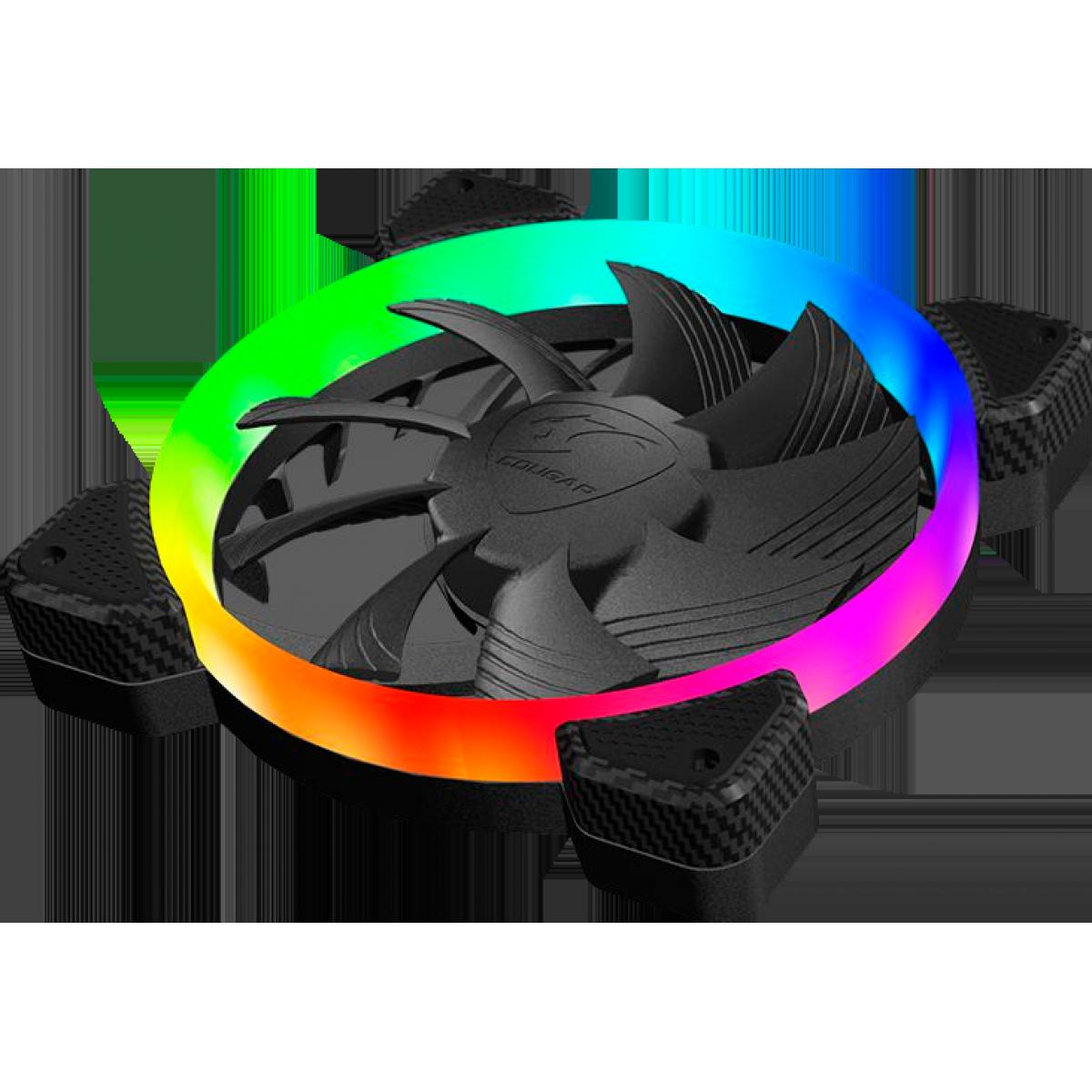 Cooler para Gabinete Cougar Vortex HPB, RGB 120mm, 3MHPB120.0001