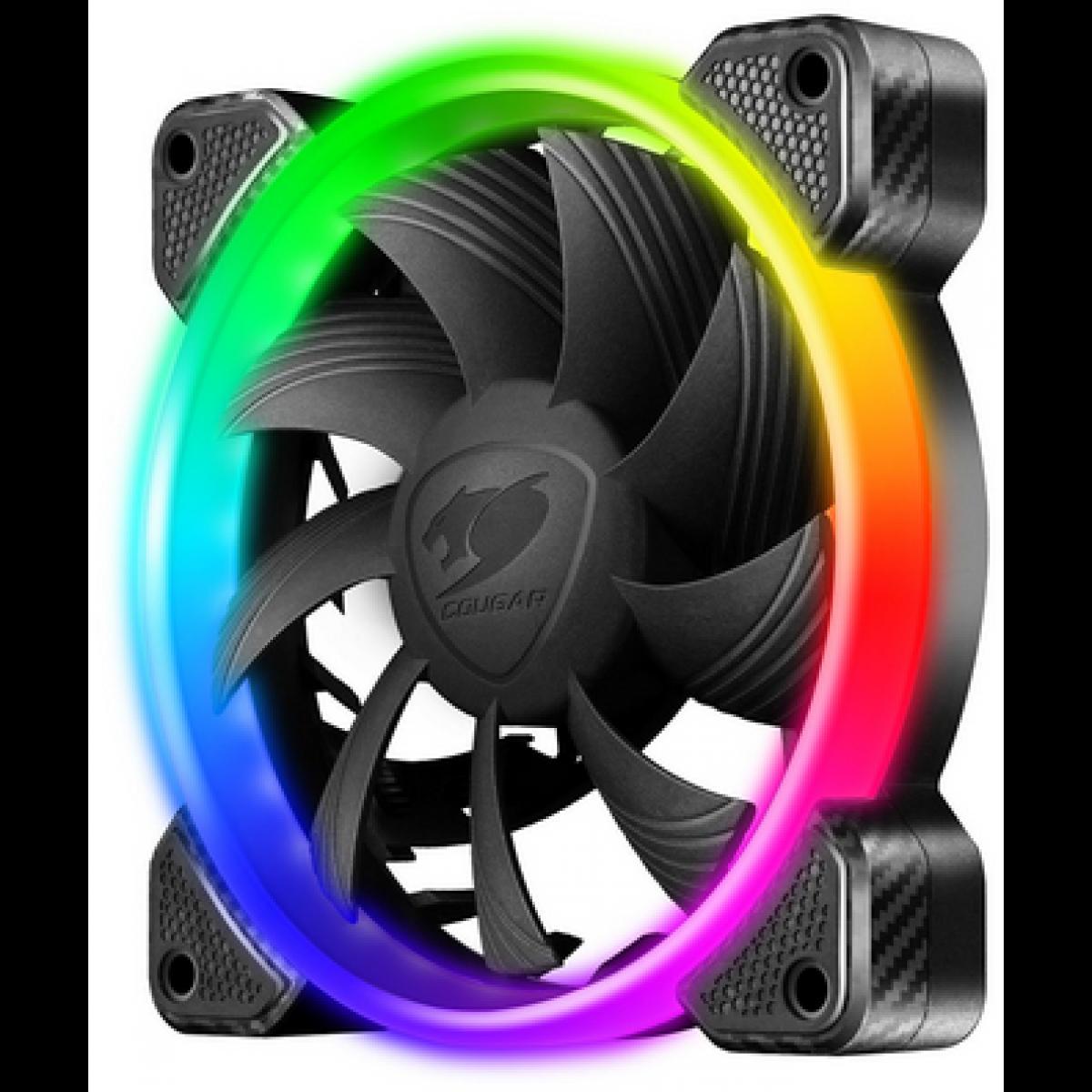 Cooler para Gabinete Cougar Vortex RGB FCB 120mm, CF-V12FB-RGB