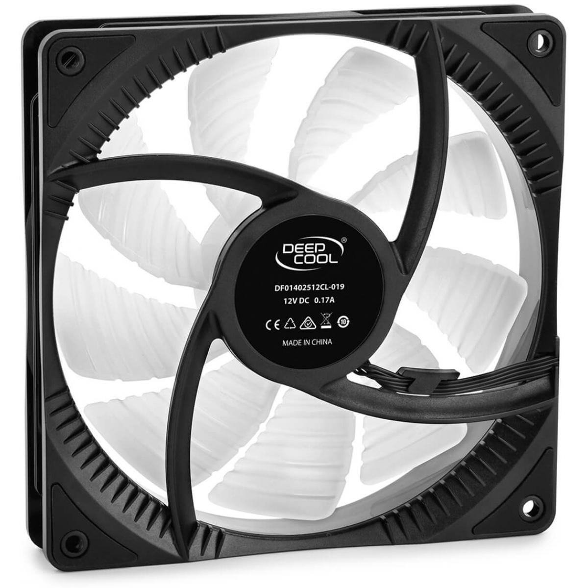 Cooler para Gabinete Deepcool RF 140 RGB 140mm, DP-FRGB-RF140-1C