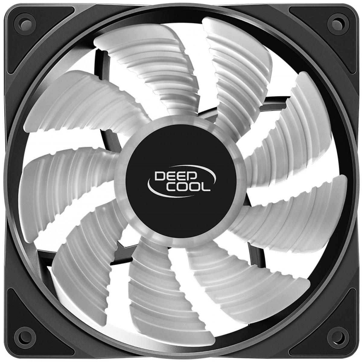 Cooler para Gabinete Deepcool RF120 FS LED Rainbow 120mm, DP-FLED3-RF120-FS