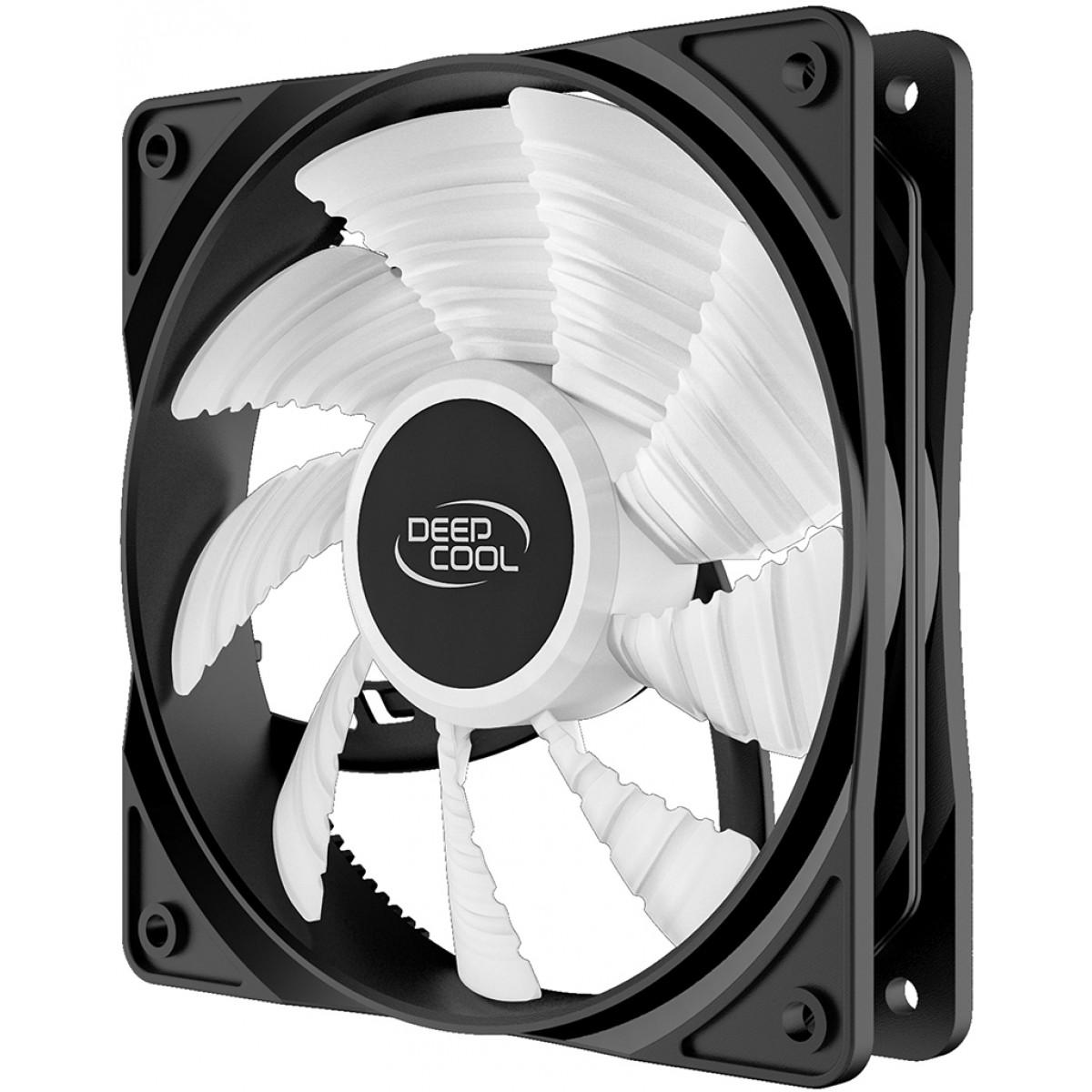 Cooler para Gabinete Deepcool RF120R, Led Red, 120mm, DP-FLED-RF120-RD