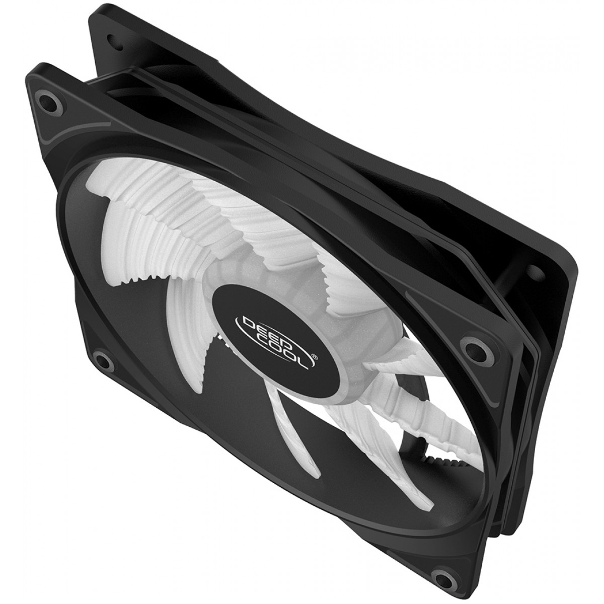 Cooler para Gabinete Deepcool RF120W, Led White, 120mm, DP-FLED-RF120-WH