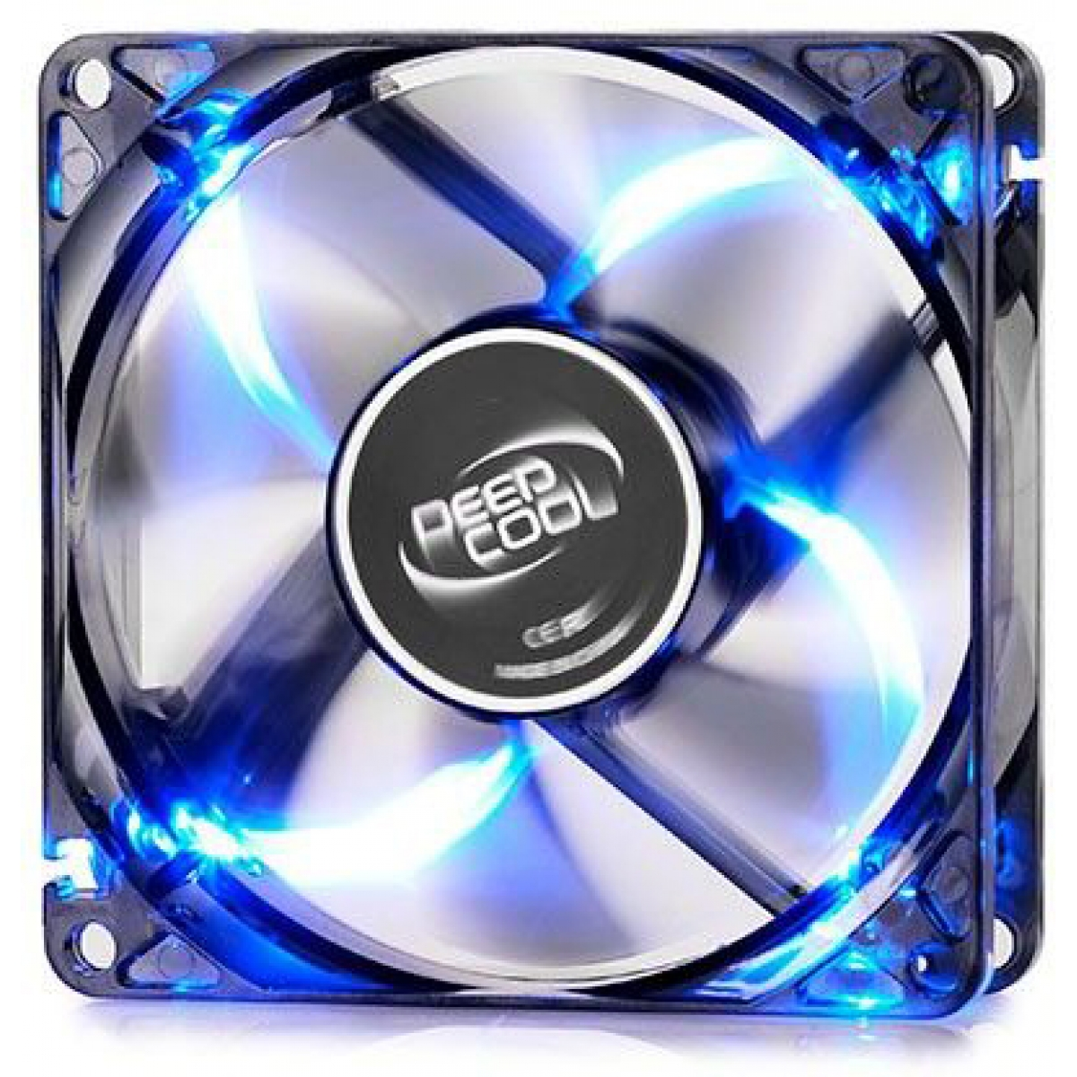 Cooler para Gabinete Deepcool Wind Blade 80, LED Blue 80mm, DP-FLED-WB80