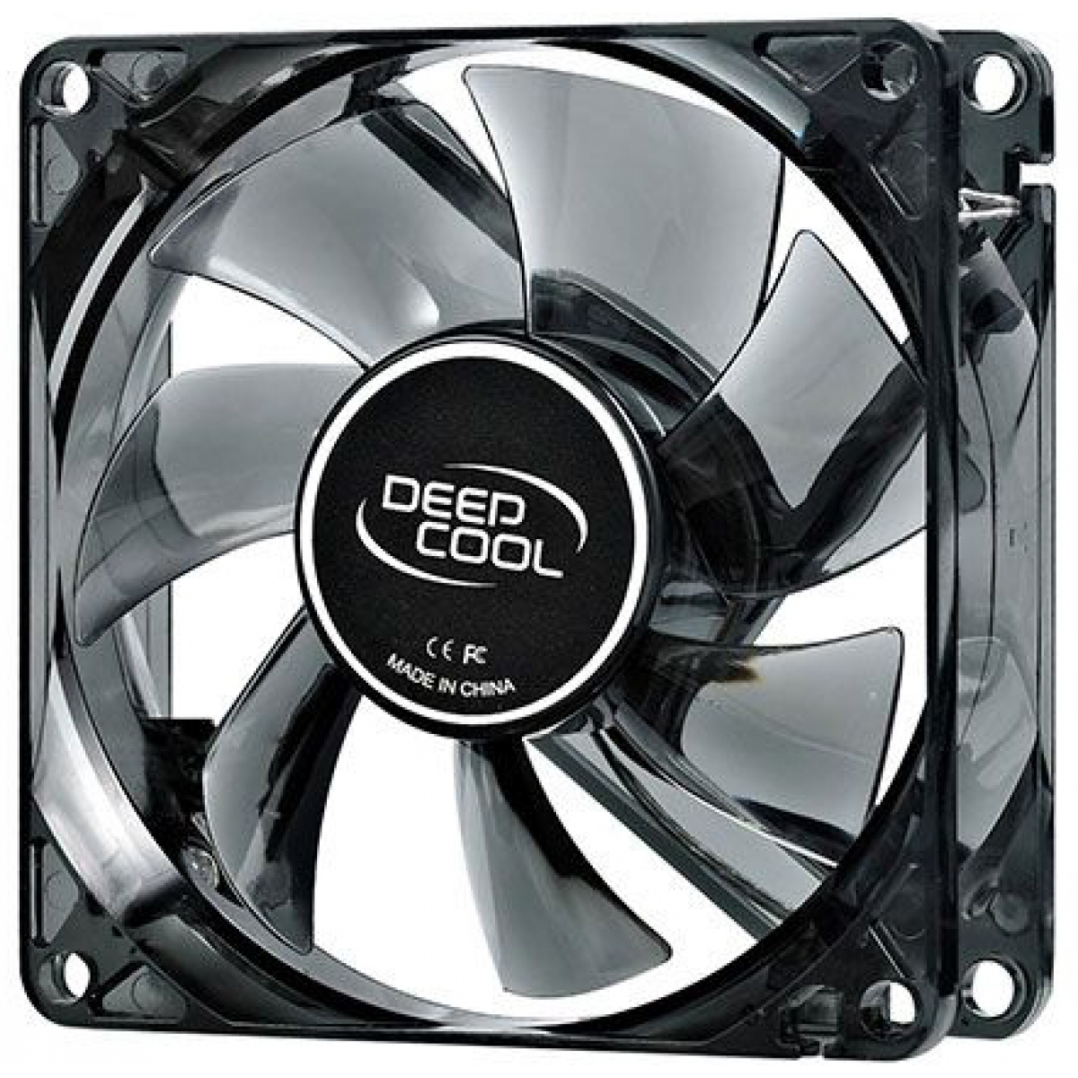 Cooler para Gabinete Deepcool Wind Blade 80, LED Vermelho 80mm, DP-FLED-WB80-RD