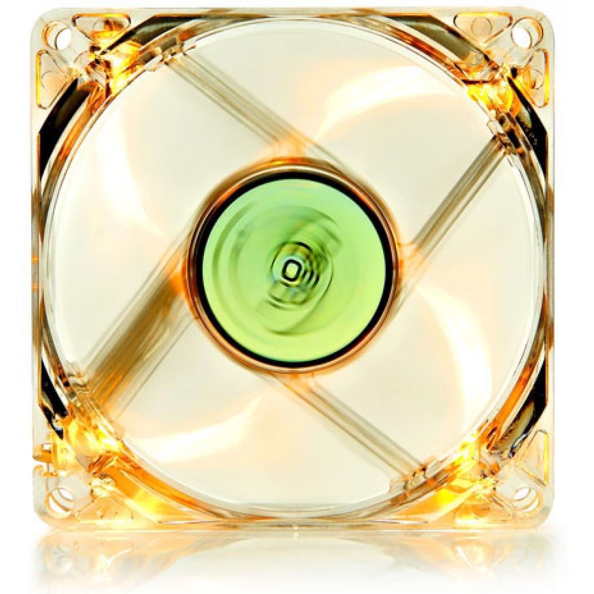 Cooler para Gabinete Deepcool XFAN80 L/Y, LED Amarela 80mm, DP-FLED-XF80LY