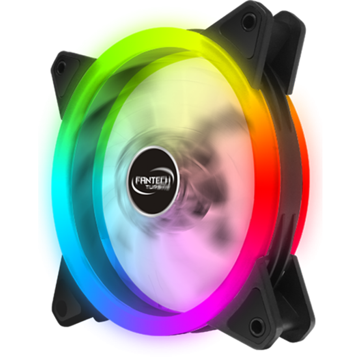 Cooler para Gabinete Fantech Turbine, Rainbow, Black, 120mm, FC124
