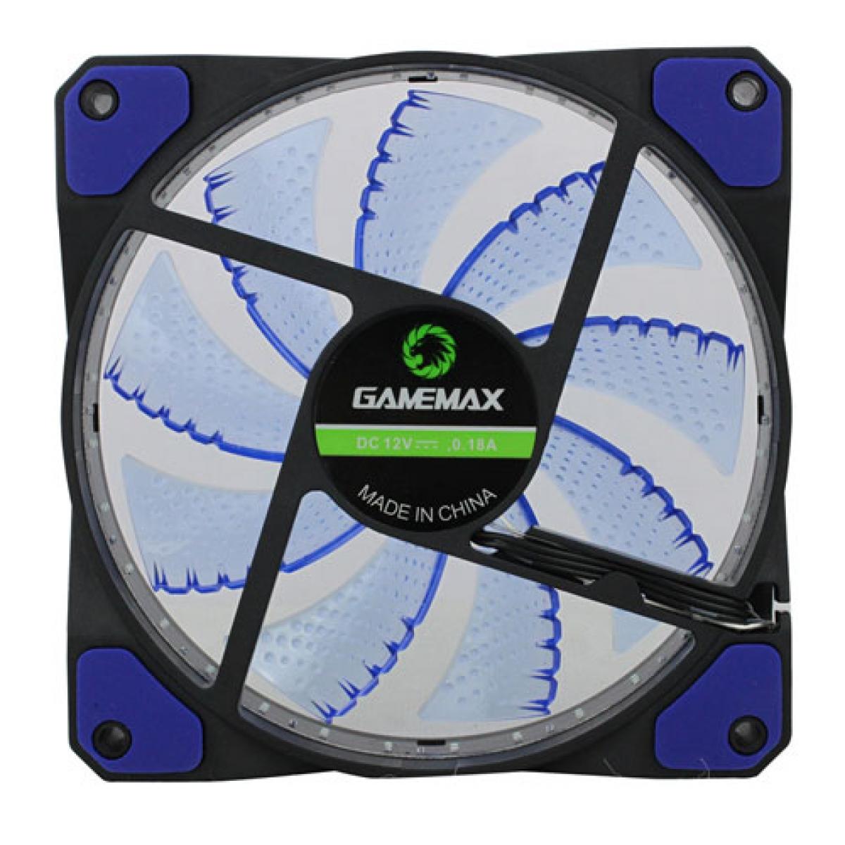 Cooler Para Gabinete Gamemax GF12B, LED Blue 120mm