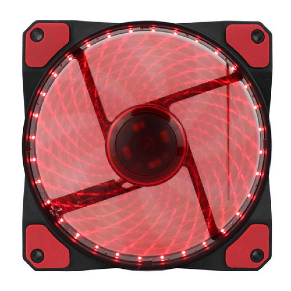Cooler Para Gabinete Gamemax GF12R, LED Vermelho 120mm