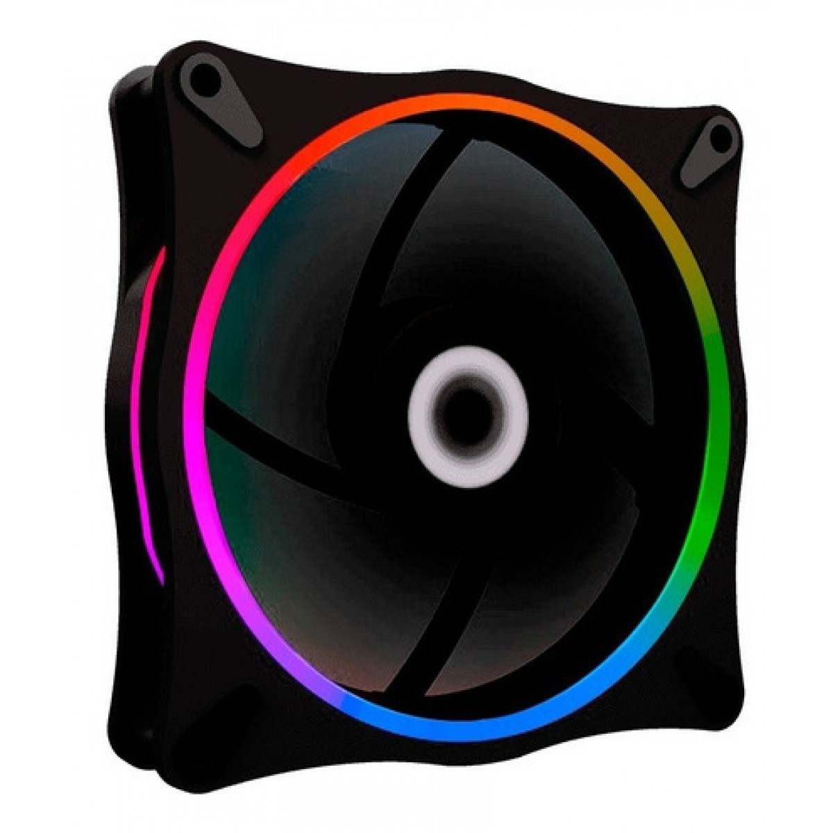 Cooler Para Gabinete Gamemax Rainbow, ARGB 120mm, GMX-12RAINBOW-DB