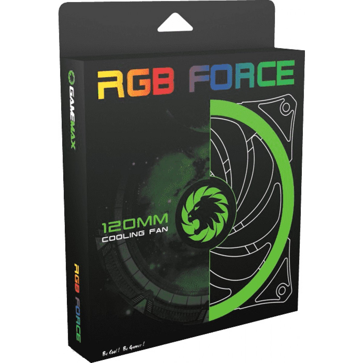 Cooler Para Gabinete Gamemax RGB Force 120mm, GMX-12RGB-PRO II