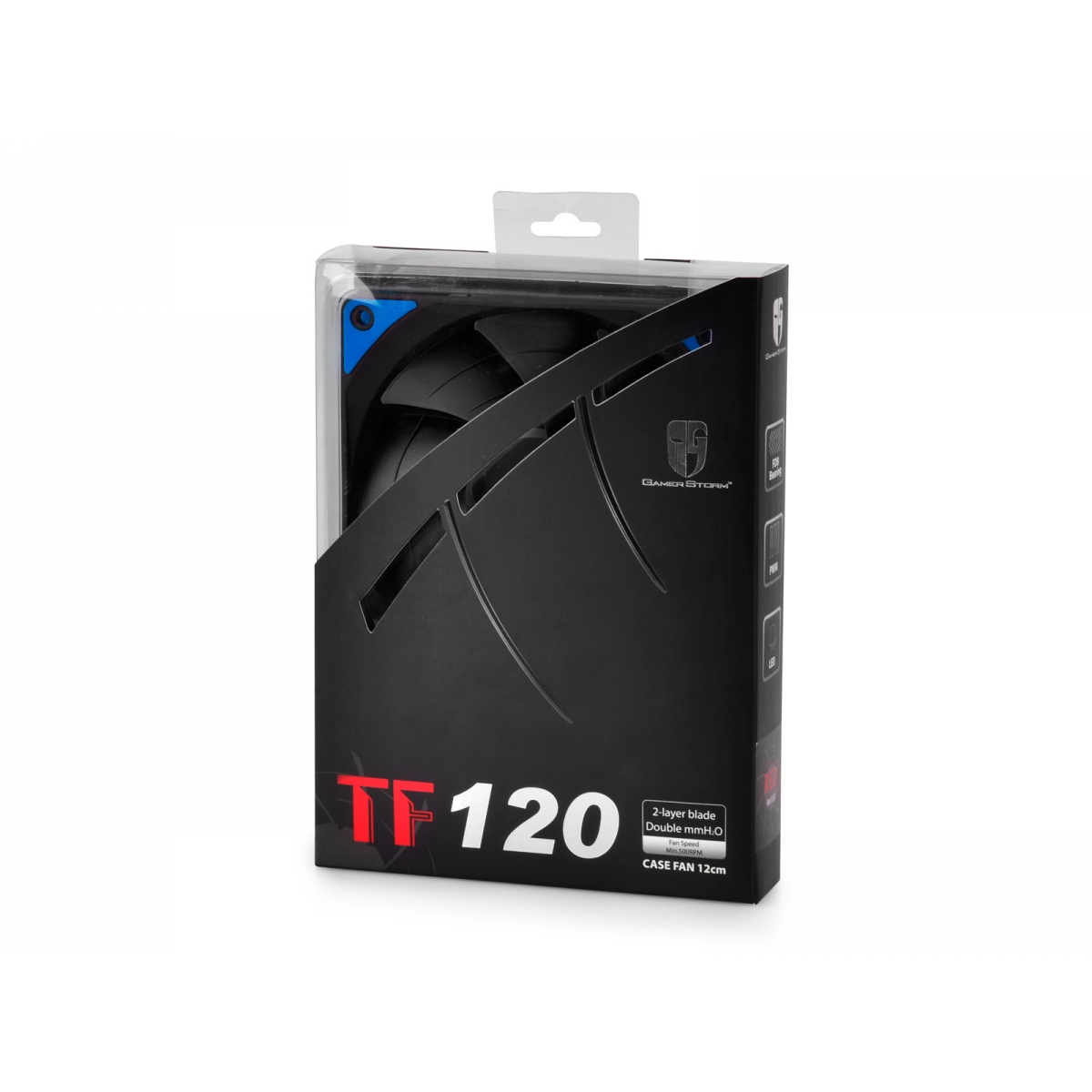 Cooler para Gabinete Gamer Storm Deepcool, LED Blue 120mm, DPGS-FTF-TF120BG