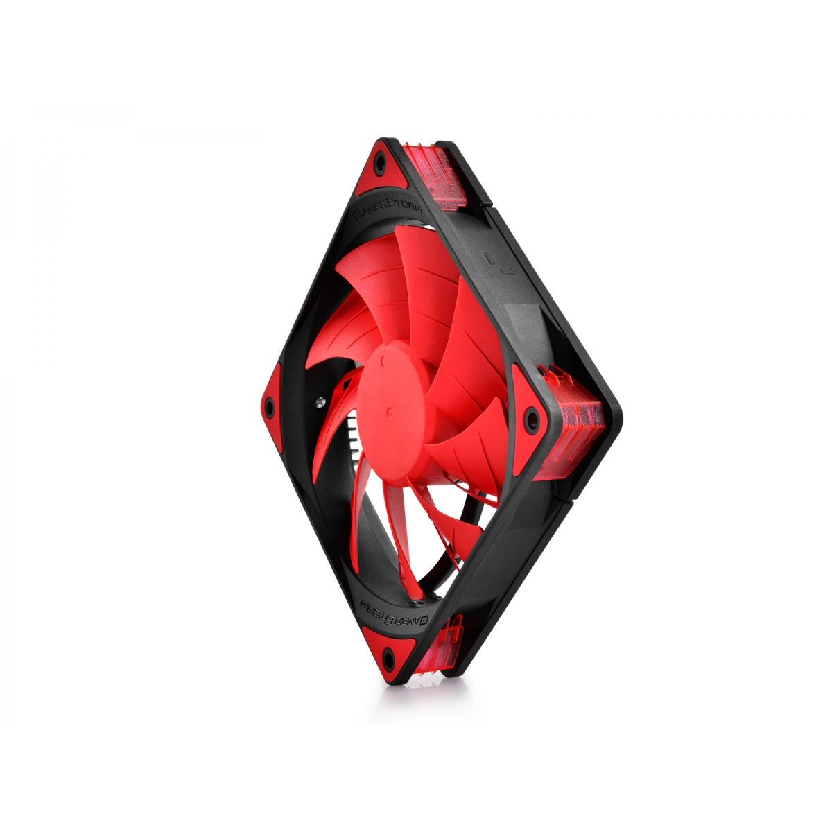 Cooler para Gabinete Gamer Storm Deepcool, LED Red 120mm, DPGS-FTF-TF120RR