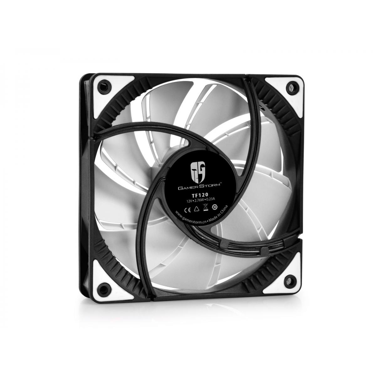 Cooler para Gabinete Gamer Storm Deepcool, LED White 120mm, DPGS-FTF-TF120WW