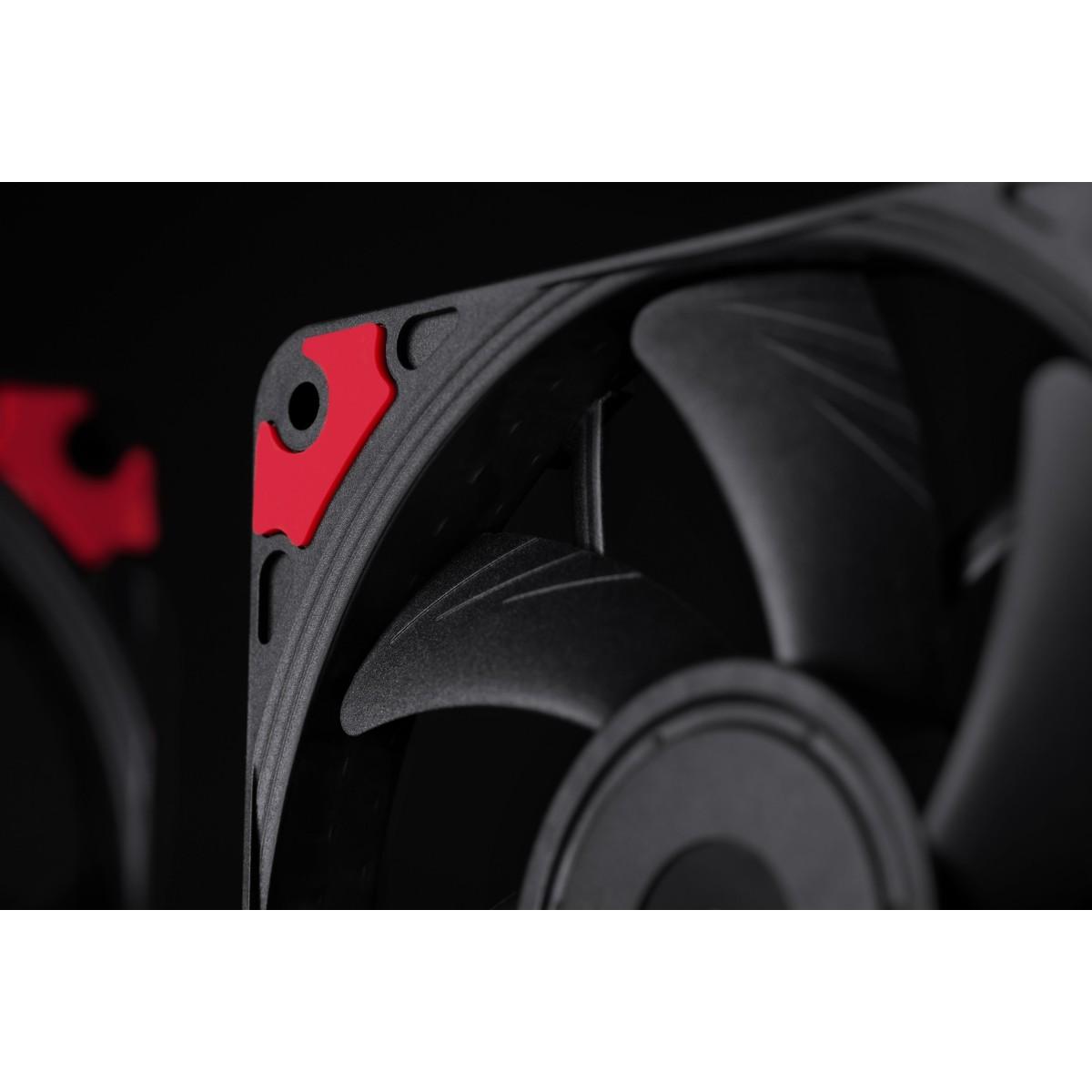 Cooler para Gabinete Noctua NF-A12x15 PWM chromax.black.swap, Black, 120mm, NF-A12x15 PWM chromax.black.swap