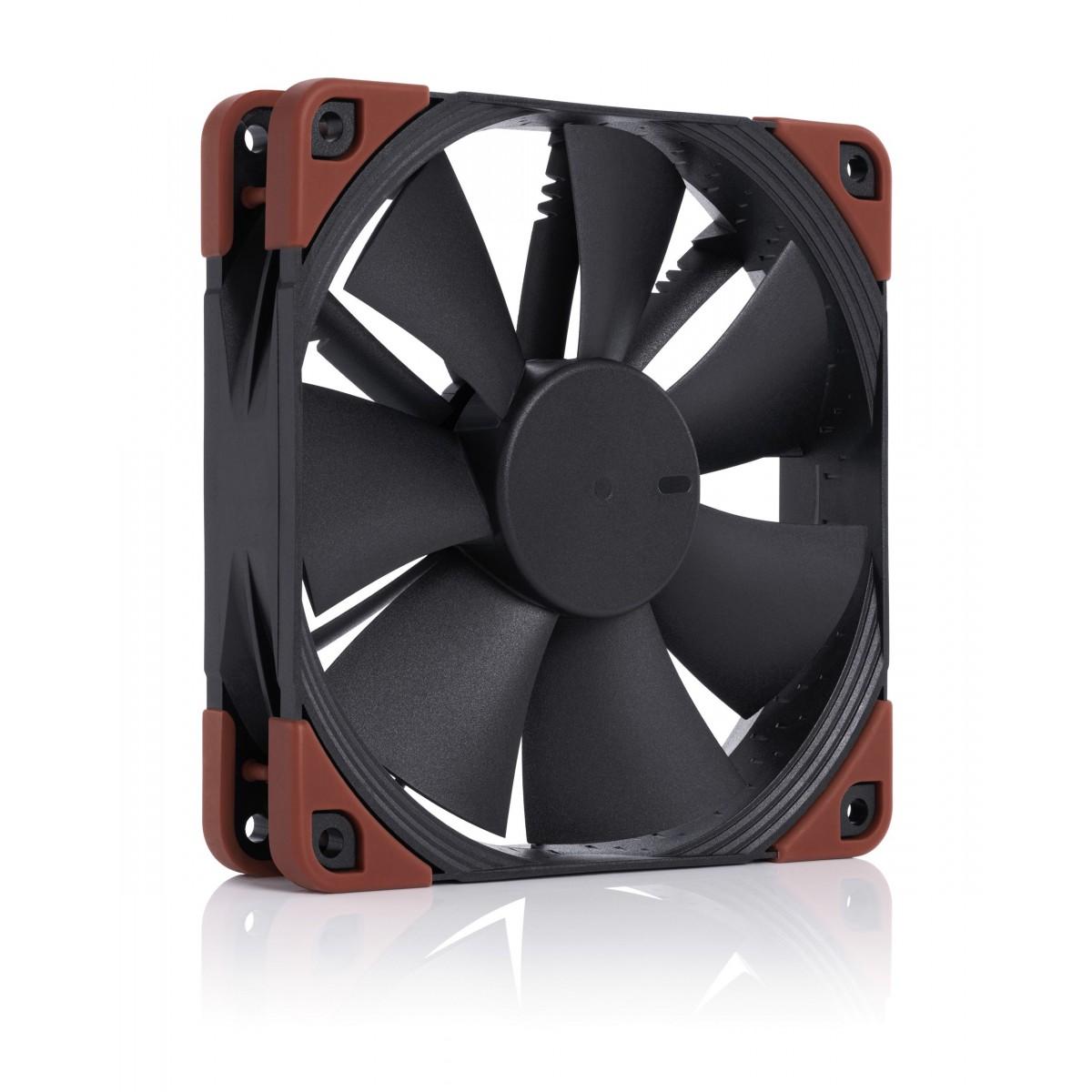 Cooler para Gabinete Noctua NF-F12 industrialPPC-2000 IP67, Black, 120mm, NF-F12 iPPC-2000 IP67