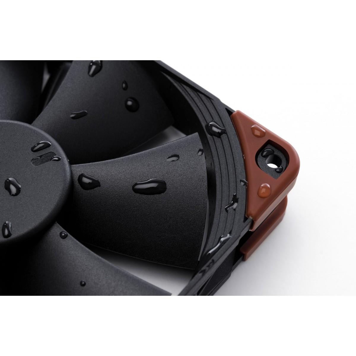 Cooler para Gabinete Noctua NF-F12 industrialPPC-3000 PWM, Black, 120mm, NF-F12 iPPC-3000 PWM