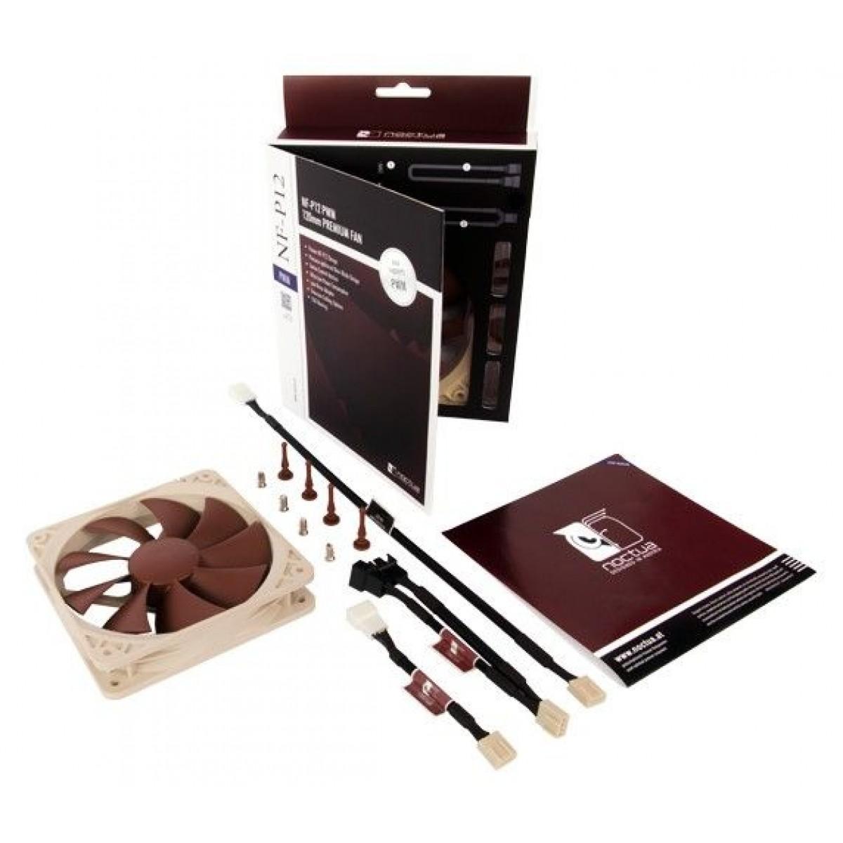 Cooler para Gabinete Noctua NF-P12 PWM, Beige, 120mm, NF-P12 PWM