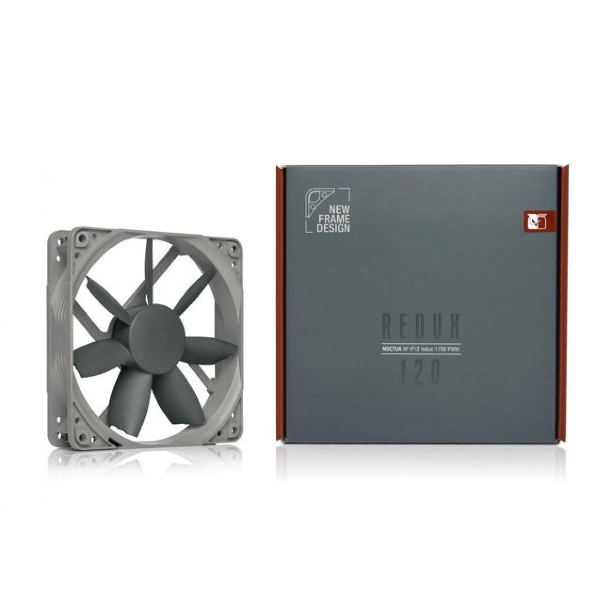 Cooler para Gabinete Noctua NF-S12B redux-1200 PWM, Gray, 120mm, NF-S12B redux-1200 PWM