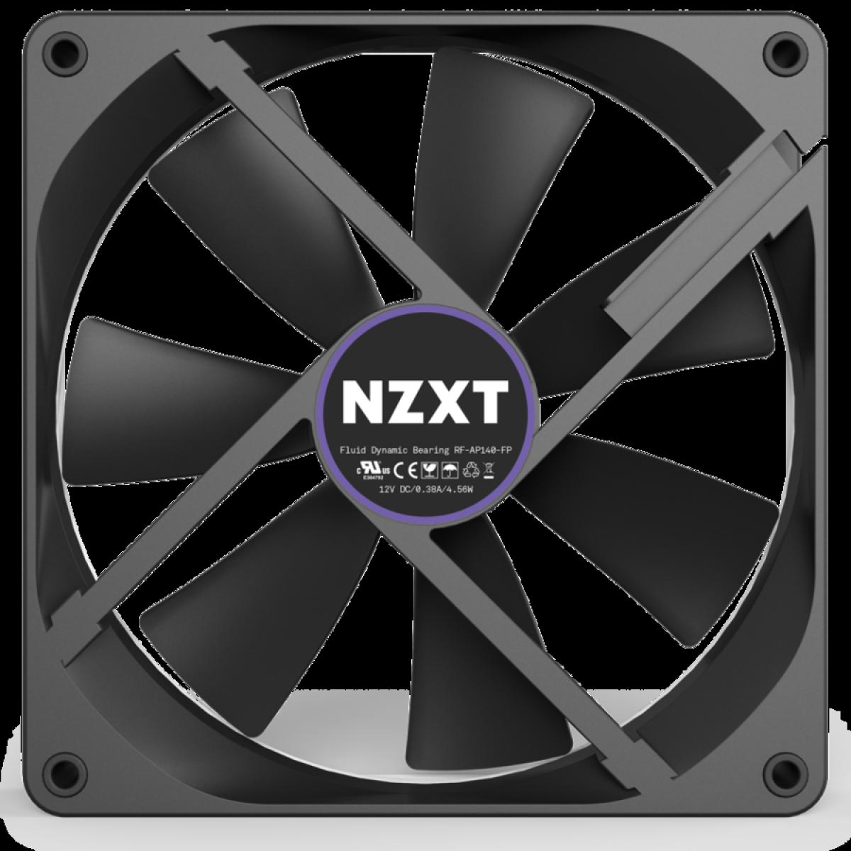 Cooler para Gabinete NZTX AER P Grey, 140mm, RF-AP140-FP