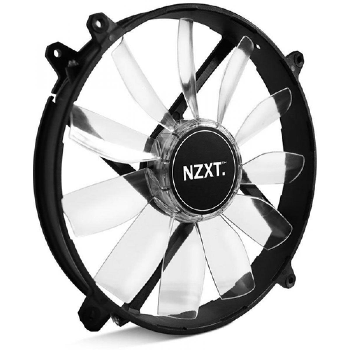 Cooler para Gabinete NZXT FZ-200, LED Laranja 200X30mm, RF-FZ20S-O1