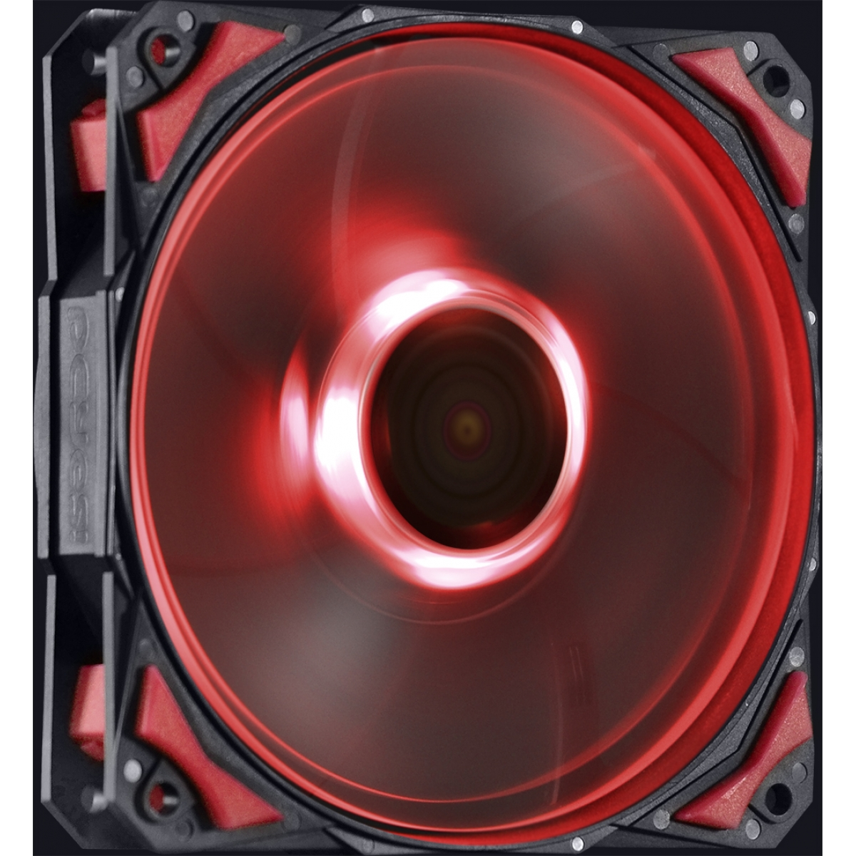 Cooler para Gabinete Pcyes Fury F4, LED Red 120mm, F4120LDVM