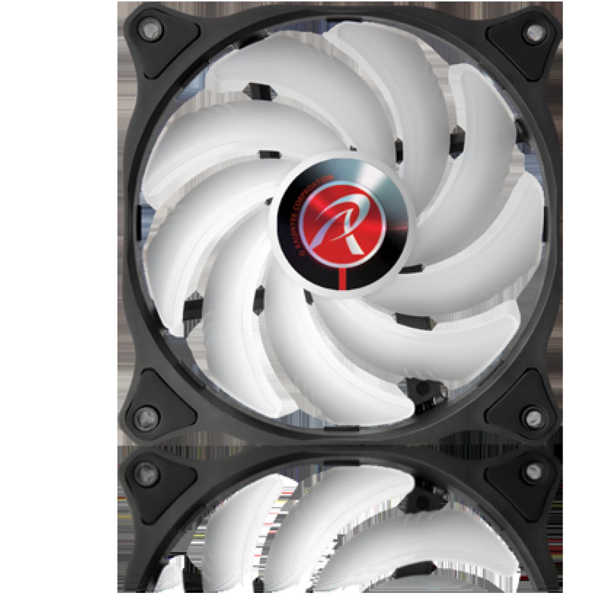 Cooler para Gabinete Raijintek EOS 12 RBW ADD, ARGB, 120mm, 0R40B00191