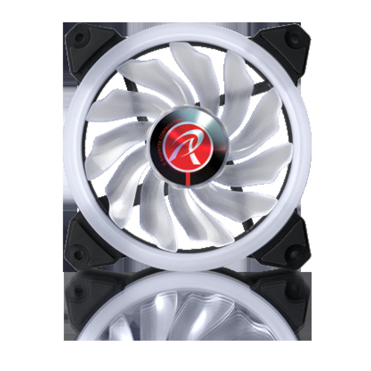 Cooler para Gabinete Raijintek Iris 12 RBW ADD, ARGB, 120mm, 0R40B00110
