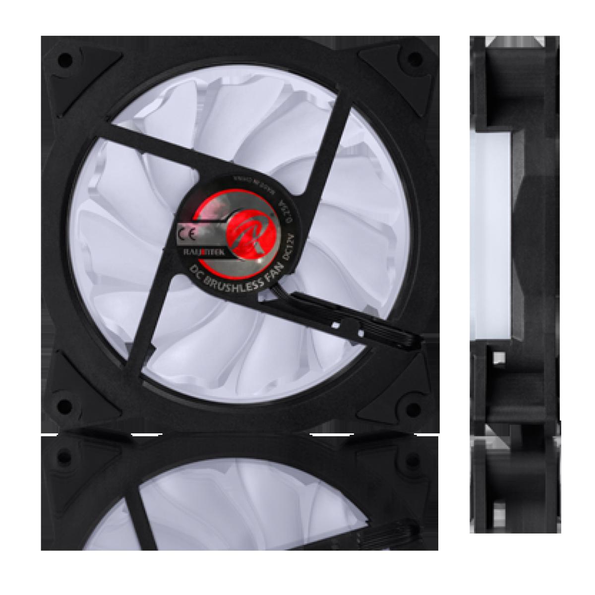Cooler para Gabinete Raijintek Iris 12, White, 120mm, 0R400039