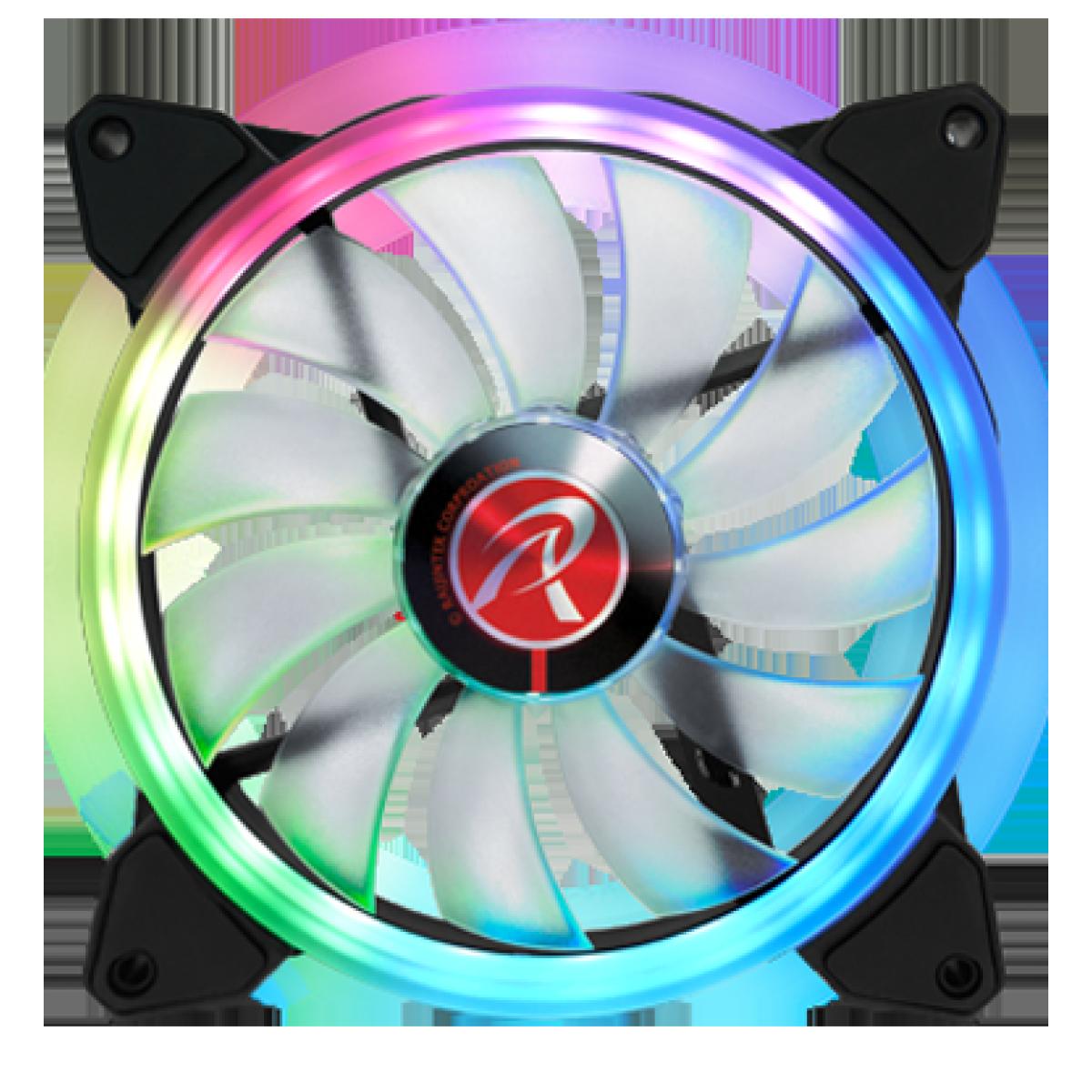 Kit Fan com 2 Unidades Raijintek Iris 14 RBW ADD-2, ARGB, 140mm, 0R40B00114