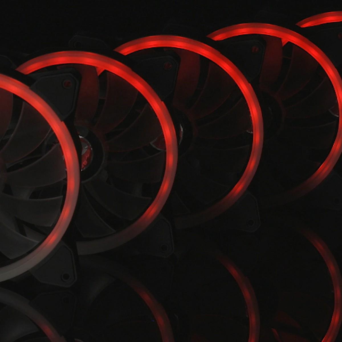 Kit com 3 Fans Raijintek Iris 14 RBW ADD-3, ARGB, 140mm, 0R40B00115