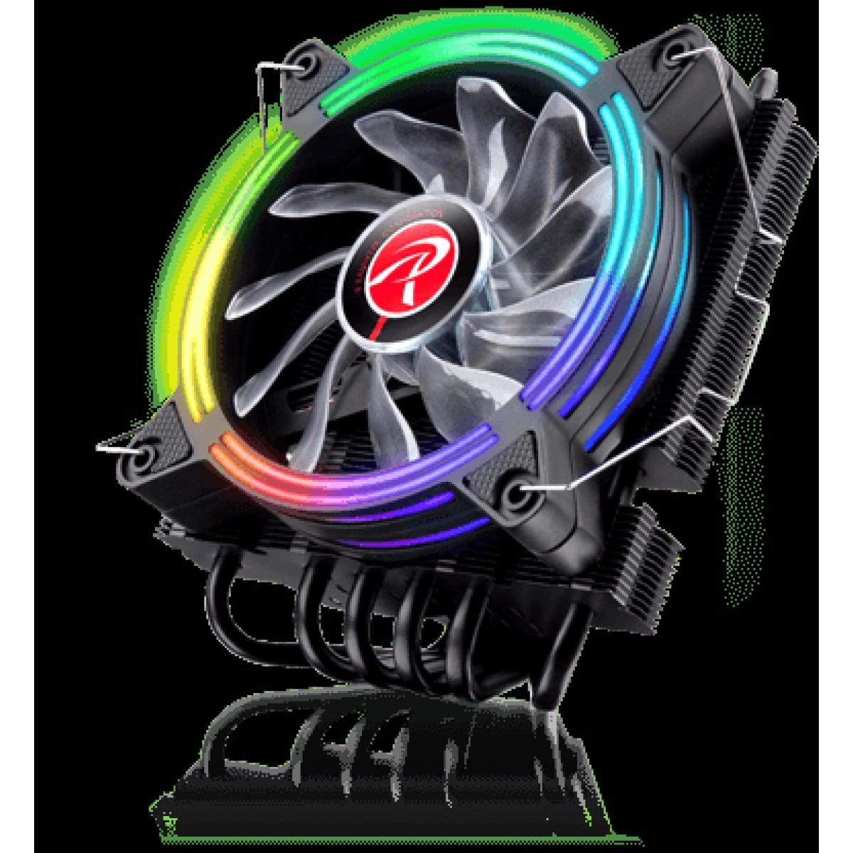 Kit Fan com 2 Unidades Raijintek SKLERA 12 RBW ADD-2, ARGB, 120mm, 0R40B00129
