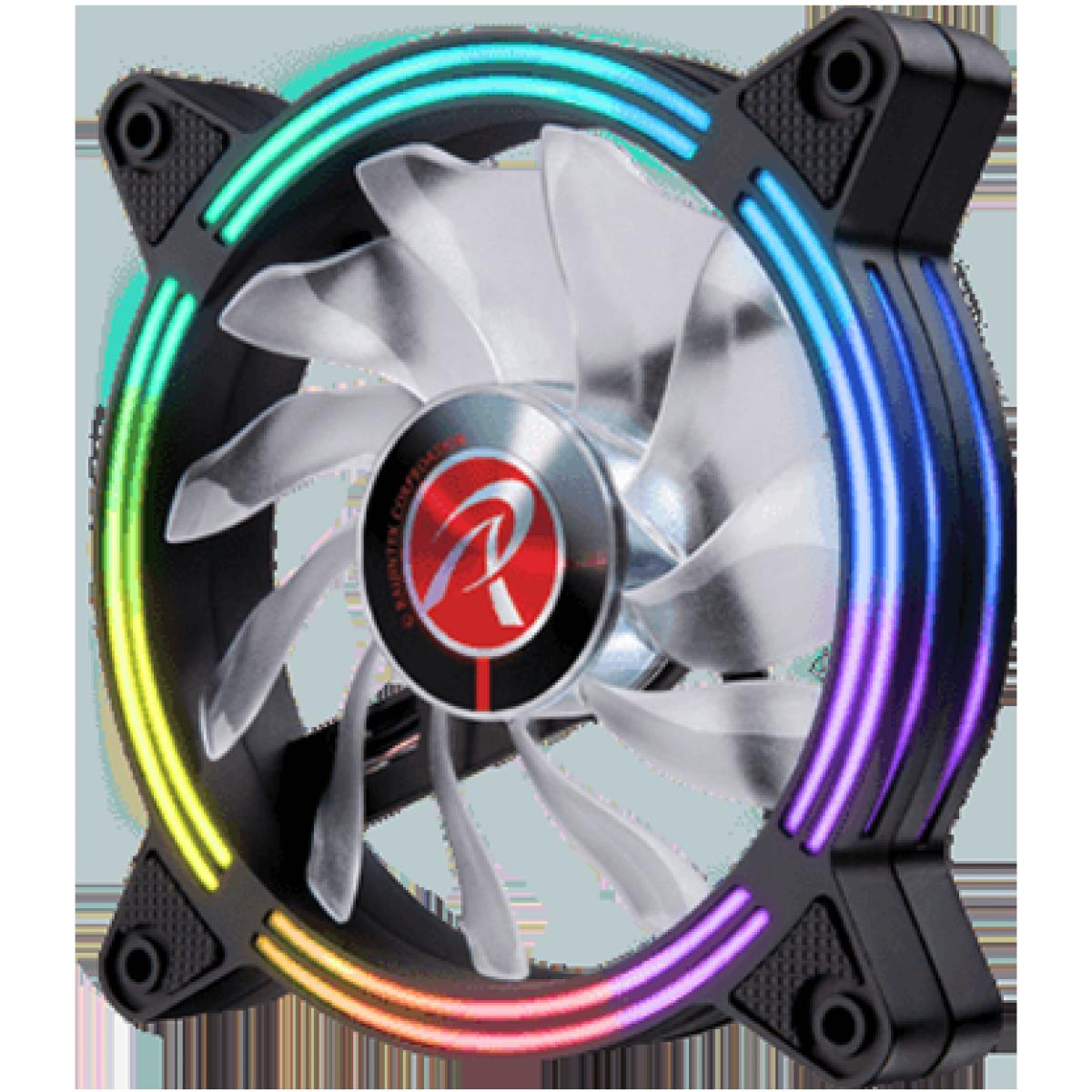 Cooler para Gabinete Raijintek SKLERA 12 RBW ADD, ARGB, 120mm, 0R40B00128