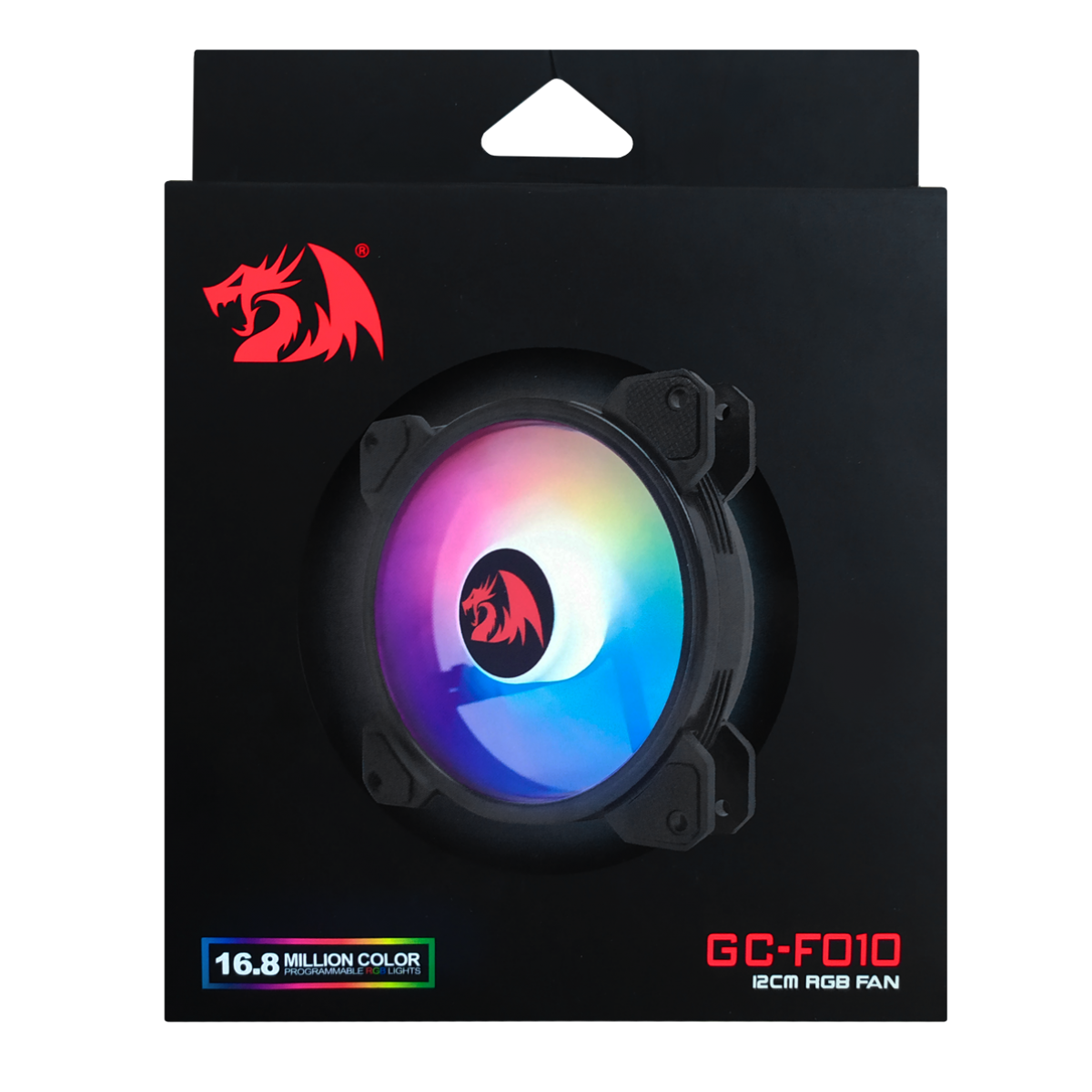Cooler para gabinete Redragon, RGB, 120mm, GC-F010