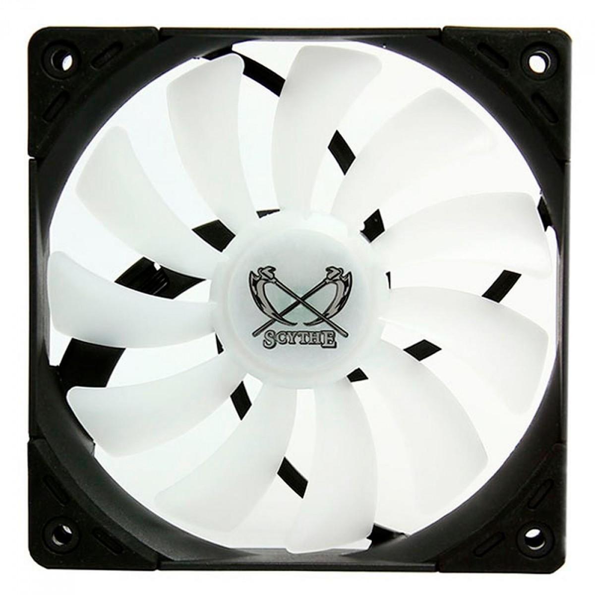 Cooler para Gabinete Scythe Kaze Flex 120 RGB, 120mm, PWM, 800RPM, SU1225FD12LR-RDP