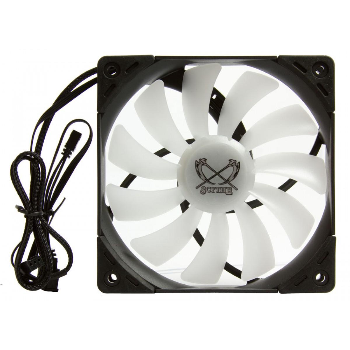 Cooler para Gabinete Scythe Kaze Flex 120 RGB PWM, 120mm 1.800 RPM, SU1225FD12HR-RNP