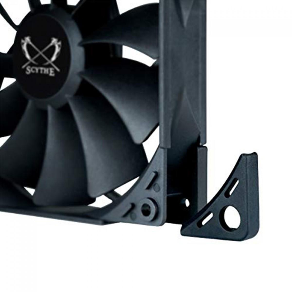 Cooler para Gabinete Scythe Kaze Flex 120mm Black, 1500 RPM, PWM, KF1225FD15B-P