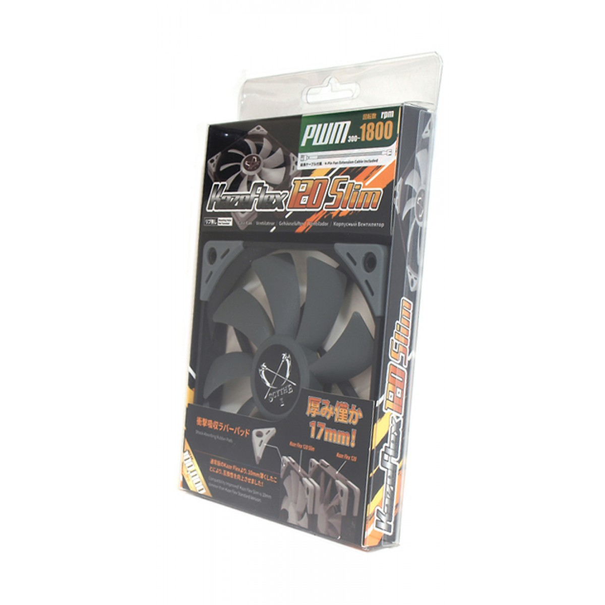 Cooler para Gabinete Scythe Kaze Flex 120mm Slim, KF1215FD18-P